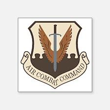"USAF-ACC-Shield-Desert Square Sticker 3"" x 3"""