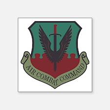 "USAF-ACC-Shield-Woodland Square Sticker 3"" x 3"""
