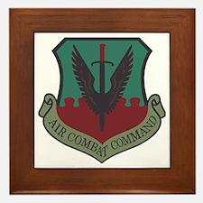 USAF-ACC-Shield-Woodland Framed Tile