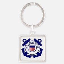 USCG-Logo-Without-Date Square Keychain