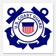 """USCG-Logo-Without-Date Square Car Magnet 3"""" x 3"""""""