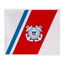 2-USCG-Racing-Stripe Throw Blanket