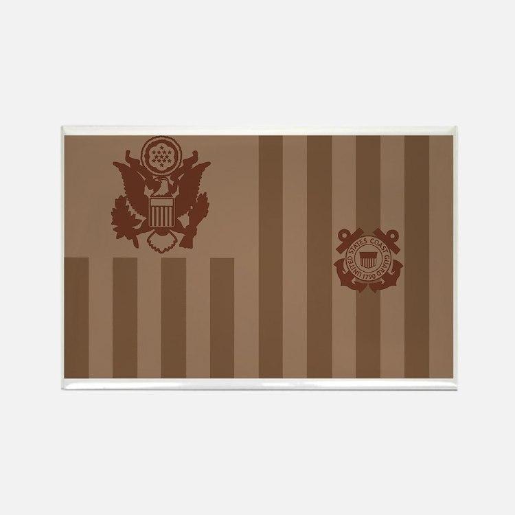 USCG-Flag-Ensign-Desert Rectangle Magnet