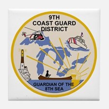 USCG-9th-CGD-Patch Tile Coaster