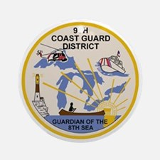 USCG-9th-CGD-Patch Round Ornament