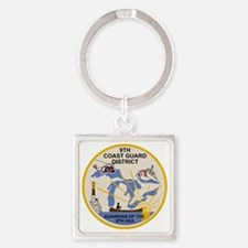 USCG-9th-CGD-Patch Square Keychain