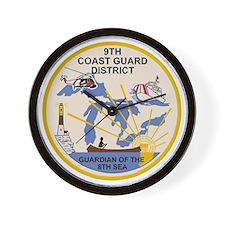USCG-9th-CGD-Patch Wall Clock