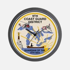 USCG-9th-CGD-Patch Wall Clock