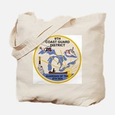 USCG-9th-CGD-Patch Tote Bag