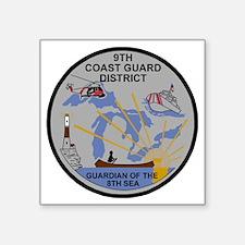 "USCG-9th-CGD-Patch-Dark Square Sticker 3"" x 3"""