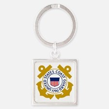 USCG-Emblem Square Keychain
