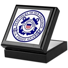 2-USCG-Defenders-Blue-White Keepsake Box