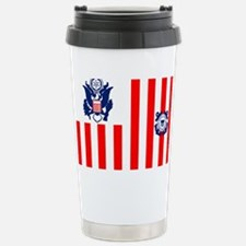 USCG-Flag-Ensign Stainless Steel Travel Mug