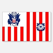 USCG-Flag-Ensign-Outlined Sticker (Rectangle)