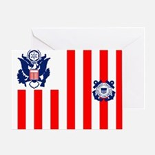 USCG-Flag-Ensign-Outlined Greeting Card