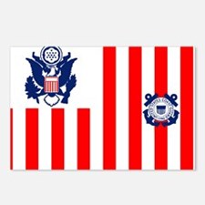 USCG-Flag-Ensign-Outlined Postcards (Package of 8)