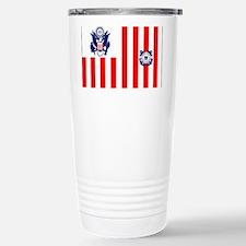USCG-Flag-Ensign-Outlined Travel Mug