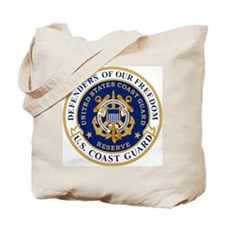USCGR-Defending-Freedom-Circle Tote Bag