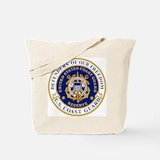 USCGR-Defending-Freedom-Circle Tote Bag