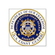 "USCGR-Defending-Freedom-Cir Square Sticker 3"" x 3"""