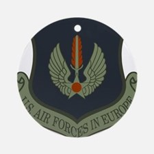 2-USAF-USAFE-Shield-Subdued Round Ornament