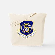 USAF-5th-AF-Shield Tote Bag