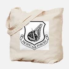 USAF-PAF-Shield-Black-White Tote Bag
