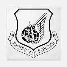 USAF-PAF-Shield-Black-White Queen Duvet