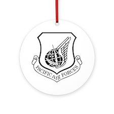 USAF-PAF-Shield-Black-White Round Ornament