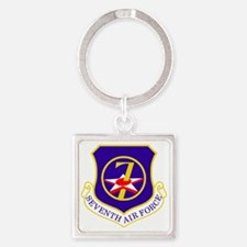 USAF-7th-AF-Shield Square Keychain