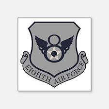 """USAF-8th-AF-Shield-ABU Square Sticker 3"""" x 3"""""""
