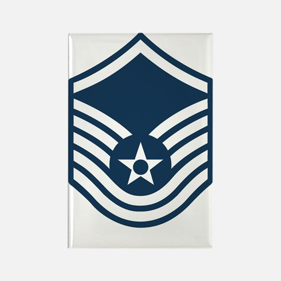 USAF-MSgt-Blue Rectangle Magnet
