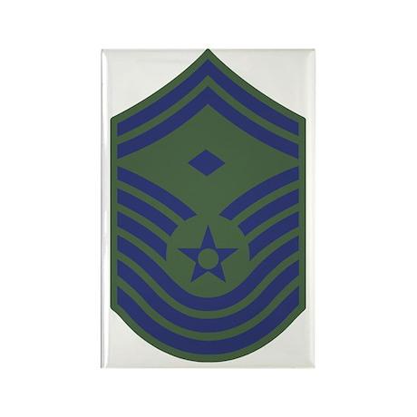 USAF-First-CMSgt-Old-Green Rectangle Magnet