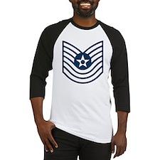 USAF-MSgt-Old-Blue Baseball Jersey
