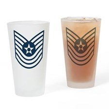 USAF-MSgt-Old-Blue Drinking Glass