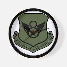 USAF-8th-AF-Shield-Subdued-2 Wall Clock