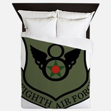 USAF-8th-AF-Shield-Subdued-2 Queen Duvet