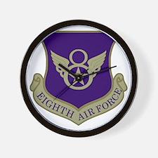 USAF-8th-AF-Shield-Subdued-Blue Wall Clock