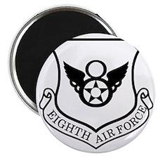 USAF-8th-AF-Shield-Black-White Magnet