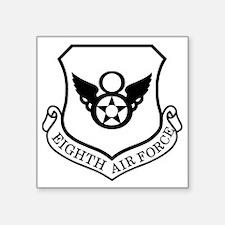 """USAF-8th-AF-Shield-Black-Wh Square Sticker 3"""" x 3"""""""