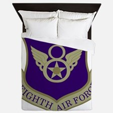 USAF-8th-AF-Shield-Subdued-Blue Queen Duvet