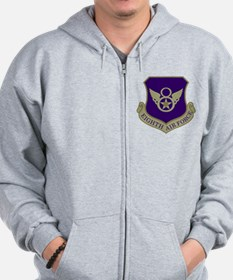 USAF-8th-AF-Shield-Subdued-Blue Zip Hoodie