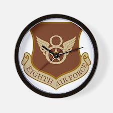 USAF-8th-AF-Shield-Desert Wall Clock