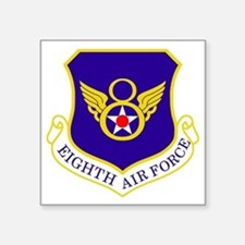 "USAF-8th-AF-Shield-Bonnie Square Sticker 3"" x 3"""