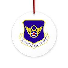 USAF-8th-AF-Shield-Bonnie Round Ornament