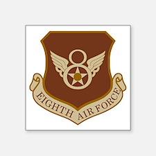 """USAF-8th-AF-Shield-Desert Square Sticker 3"""" x 3"""""""