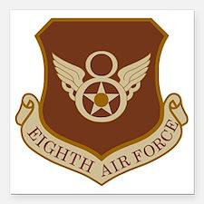 """USAF-8th-AF-Shield-Deser Square Car Magnet 3"""" x 3"""""""