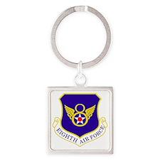 USAF-8th-AF-Shield-Bonnie Square Keychain