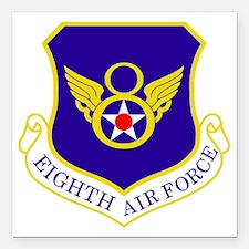 "USAF-8th-AF-Shield-Bonni Square Car Magnet 3"" x 3"""
