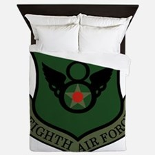 USAF-8th-AF-Shield-Subdued-Green Queen Duvet